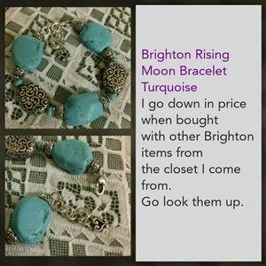 Brighton Rising Moon Bracelet Turquoise